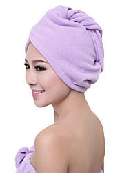 Thick Microfiber Dry Hair Cap Super Absorbent Towel Dry Solid Color  Hair Wraps