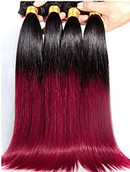 4 предмета Прямые Ткет человеческих волос Бразильские волосы Ткет человеческих волос Прямые