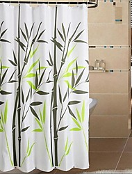 """Modern Bamboo Grove Polyester Shower Curtains W71""""×L71"""""""