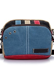Women Canvas Outdoor Waist Bag Blue / Orange