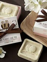 Owl Animal Shape Soap Favor for Wedding Gift