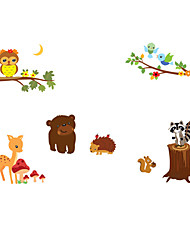 Animaux Stickers muraux Stickers avion Stickers muraux décoratifs,PVC Matériel Amovible / Repositionable Décoration d'intérieur Wall Decal