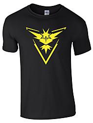 Comic Monster Men And Women Wear T Shirt-Black Bottom Yellow