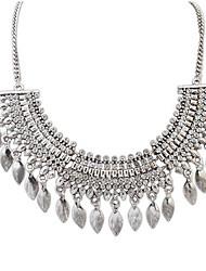 Full Diamond Tassel Necklace Crescent Drops