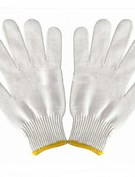 Bleached Cotton Yarn Gloves Labor Thickened Polyester Cotton Yarn Work Protection