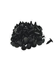 K027 100 Stück Autoinnenverkleidungen Clips schwarze Kunststoffniete