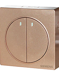 Surface Mounted Switch Socket Panel 3D Bright Gold Two Double Control Wall Switch Panel Open Wire