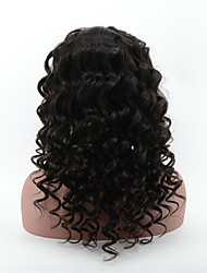 peruanisches reines Haar lose tiefe Welle volle Spitze Perücke für Schönheit billig glueless volle Spitze-Menschenhaarperücken mit dem