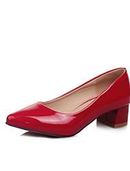 женская обувь лакированная кожа весна / осень пятки / пальца ноги пятки заостренный офис&карьера / платье / вскользь коренастый пятки