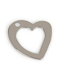 Amuletos Metal Heart Shape como Imagem 50Pcs