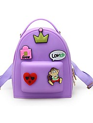 Women PVC Casual Backpack White / Purple / Blue / Gray / Black / Fuchsia