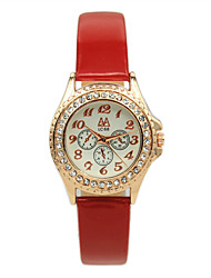 Women's Students Digital Pointer Full Of Diamond Fashion Belt Leather Casual Quartz Watches