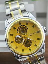 Мужской Нарядные часы С автоподзаводом С гравировкой сплав Группа Серебристый металл бренд-