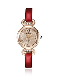 2016 Luxury Noble Romantic Rose Gold Cubic Zirconia Red Women Watch
