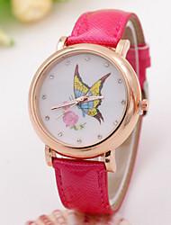 женский цветок бабочка точки алмаз часы