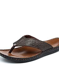 Men's Shoes Cowhide Casual Sandals / Flats Casual Walking Flat Heel  Shoes