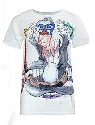 Women's Fashion Print Cartoon Cute Loose T-shirt,Round Neck Short Sleeve