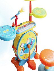 Child Frame Drum Beat Instrument Piano Drum Combination Toy Microphone Microphone