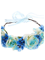 Women's Polyester / Fabric Headpiece-Wedding / Special Occasion / Outdoor Handmade Flowers Wreaths 1 Piece