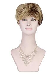 venta caliente peluca rubia corta longitud sintético peluca de pelo recto de Europa y América.