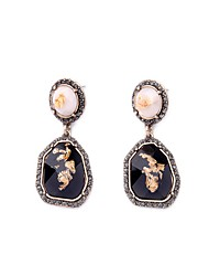 European Style Luxury Gem Earrrings Geometric Rhinestone Drop Earrings for Women Fashion Jewelry Best Gift