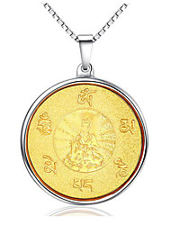 Necklace Pendant Necklaces / Pendants Jewelry Daily / Casual Fashion Stainless Steel Gold 1pc Gift
