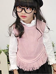 Girl's Casual/Daily Geometric Sweater & Cardigan,Polyester Winter / Spring / Fall Blue / Brown / Pink