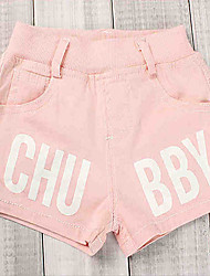 Girl's Casual/Daily Solid Shorts,Cotton Summer Green / Pink / White