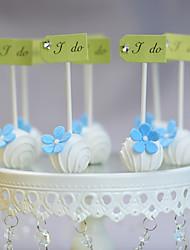 Decorações de Bolo Não-personalizado Engraçado e Relutante Acrilíco / Papel de Cartão Aniversário / Casamento LaçoBranco / Prata / Verde