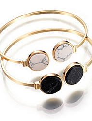 Alloy Natural Stone Gem Adjustable Cuff Bangle Bracelet Christmas Gifts