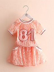 Digital Baby Lace T-Shirt Suit Children'S Clothing Girls Culottes