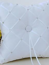 Weiß 1 Schleifen Schleife Kristallsteine Satin