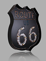 E-HOME® Metal Wall Art LED Wall Decor,Route 66 Black LED Wall Decor One PCS