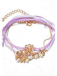 Bracelet Chaînes & Bracelets / Charmes pour Bracelets / Bracelets de rive / Bracelets Wrap / Loom Bracelet Alliage / Dentelle Amour Mode