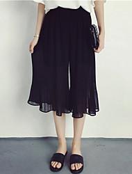 Jupes Aux femmes Midi simple Coton Micro-élastique