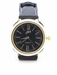 Masculino Relógio de Moda Quartz / PU Banda Legal Preta marca