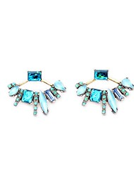 European Style Luxury Gem Earrings Geometric Pastoral style Stud Earrings for Women Fashion Jewelry