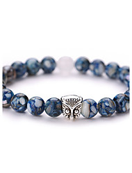 Bead Charm Barcelet Bangles Nature Stone Owl Bracelet Strand Bracelets Fashion Jewelry for Men/Women 1 pcs