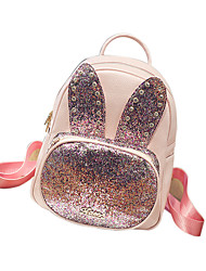 Women PU Sports / Casual / Outdoor / Shopping Backpack Pink / Blue / Black