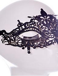 Сэй стиль маски черный / белый шнурок для Хэллоуина украшения партии Masker маскарада