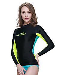 sbart® Damen Neopren- Dive Skins Schutz gegen Hautausschlag UV-resistant Videokompression Tactel Taucheranzug LangärmeligeTauchanzüge