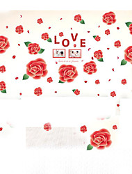 Removable Wall Stickers Red Rose Frame Wall Stickers