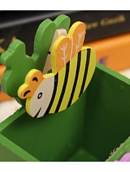 Bee Pen Creative Cute Cartoon Wooden Pen Holder Multifunction Belt Clip Manufacturers Can Print Logo