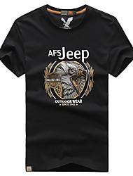 Autres Homme Doux Sport de détente Hauts/Tops / Tee-shirt Blanc / Vert / Gris / Noir