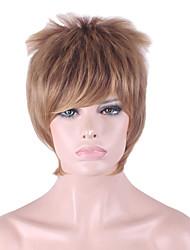 mais vendido da Europa e os Estados Unidos uma peruca de ouro dos homens do marrom peruca de cabelo de 4 polegadas