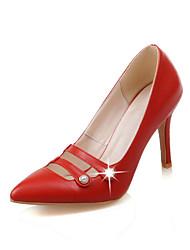 Damen-High Heels-Büro / Kleid / Party & Festivität-Kunstleder-Stöckelabsatz-Absätze / Pumps / Spitzschuh-Schwarz / Rosa / Rot / Beige