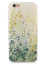 Para Funda iPhone 6 / Funda iPhone 6 Plus Antigolpes Funda Cubierta Trasera Funda Flor Suave TPU Apple iPhone 6s Plus/6 Plus / iPhone 6s/6