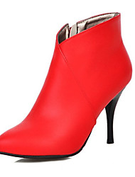 Women's Shoes Leatherette Spring / Fall / Winter Bootie Boots Wedding / Party & Evening / Dress / Casual Stiletto Heel