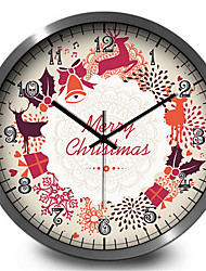 The Christmas Holiday Classic Bedroom Quartz Metal Wall Clock