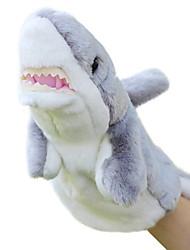 animais fantoche tubarão boneca de brinquedo de pelúcia cartoon pequenos fantoches de dedo cinza